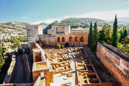 moorish: Moorish castle in Alhambra, Granada, Spain