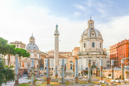 Imperial Forums in Rome, Italy