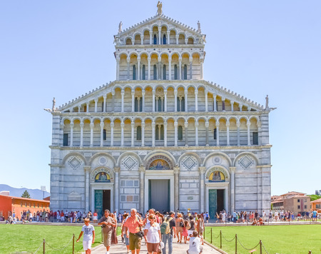 PISA, ITALY - AUG 11, 2011 : Cathedral of Pisa in Pisa, Italy.