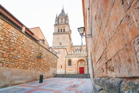 Cloudy day of Cathedral of Salamanca, Castilla y Leon region, Spain