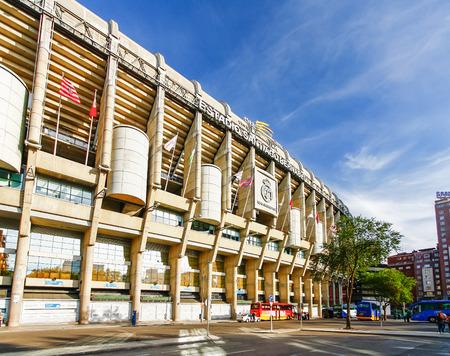 MADRID, SPAIN - OCTOBER 14, 2012 : Santiago Bernabeu Stadium of  Real Madrid C.F. was established in 1902. Editorial