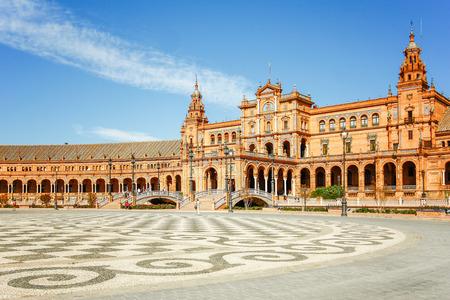 sevilla: Spanish Square (Plaza de Espana) in Sevilla, Spain