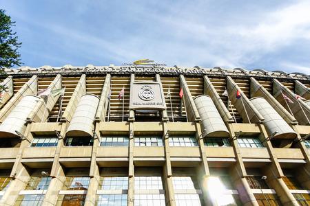 cf: MADRID, SPAIN - OCTOBER 14, 2012 : Santiago Bernabeu Stadium of  Real Madrid C.F. was established in 1902. Editorial