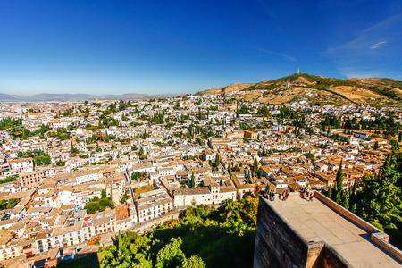Albaicin (Old Muslim quarter) district of Granada seen from  Alhambra