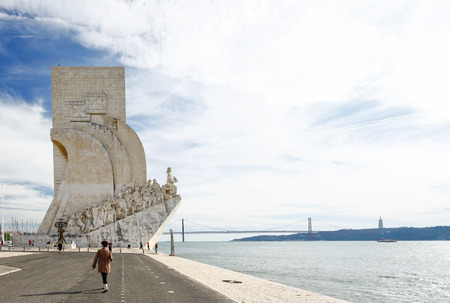 descubridor: Monument to the discoveries Lisbon Portugal