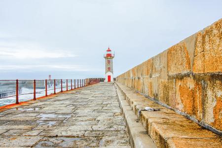 Lighthouse at Foz of Douro, Porto, Portugal