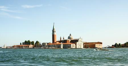 Panoramic view of San Giorgio Maggiore island, Venice, Veneto, Italy Stock Photo