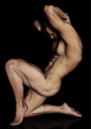 Posing bodybuilder Stock Photo