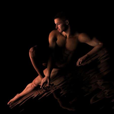 cuerpos desnudos: pereza Foto de archivo