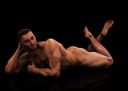 naked male body: love