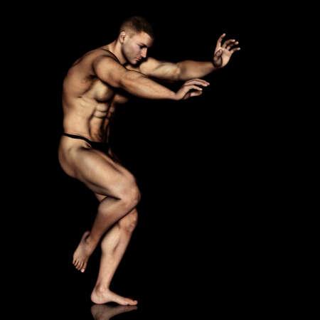 naked male body: male illustration