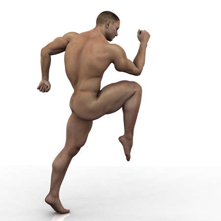 naked abs: male illustration