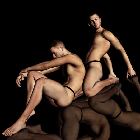 uomini nudi: maschio 100