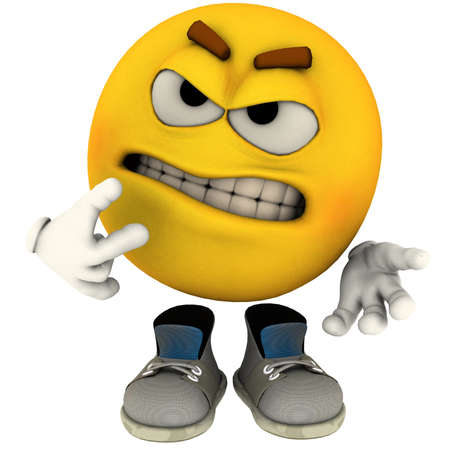 emotion guy angry Stock Photo - 10551463