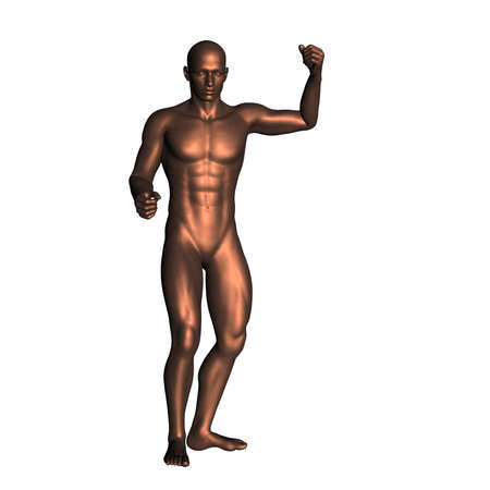 naked male body: statue 145 Stock Photo