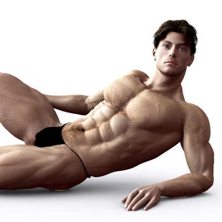 3D muscular man