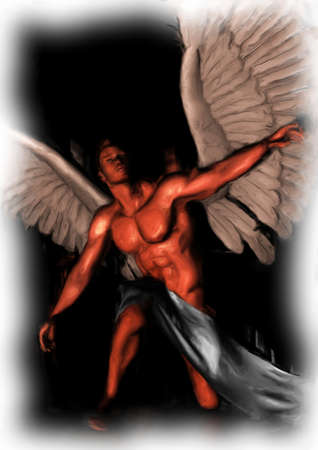 angel painting Archivio Fotografico