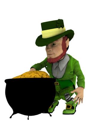 pot of gold Banco de Imagens