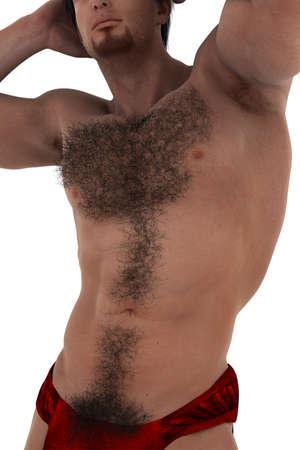 hairy sexy man Stock Photo - 16318915