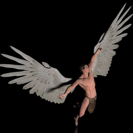 male angel: destination Stock Photo