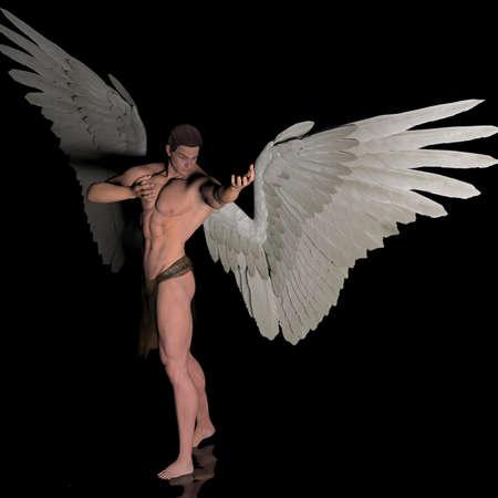 buffed: Higher power angel Stock Photo