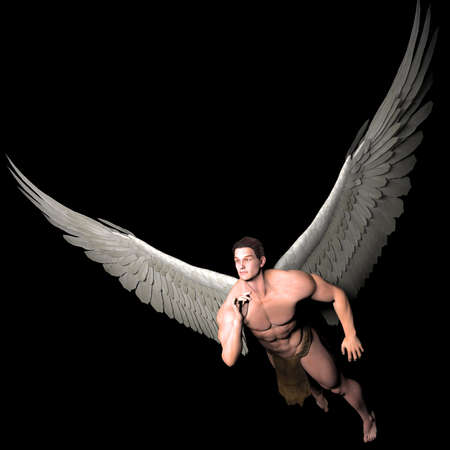 male angel: journey Stock Photo