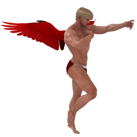 Male Cupid beckons photo