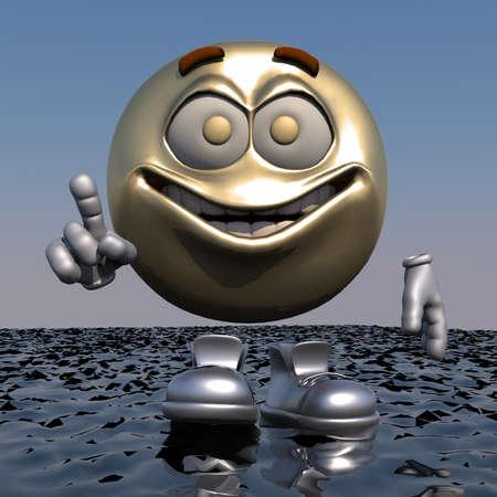 Wacht uitdrukking 3d emoticon
