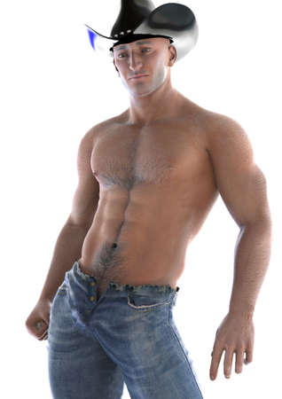 sexy gay: Cowboy in a pose