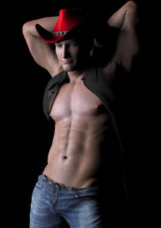 buffed: Red hat cowboy