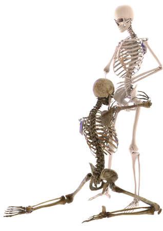 skeletten in seksuele positie