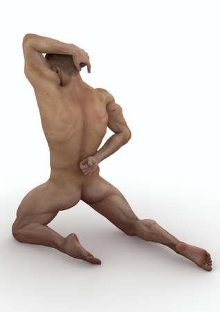 Kneeling muscle Stock Photo