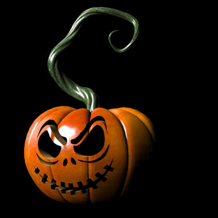 smirking: Smirking pumpkin