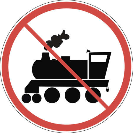 Sign of a locomotive. Vector.