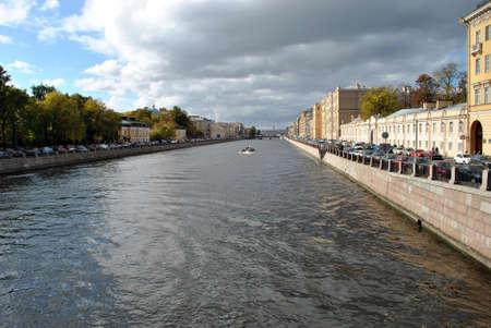 Photo of a canal in St. Petersburg. Summer Stockfoto