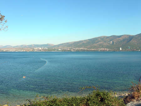 Sea Bay and shore. Seascape