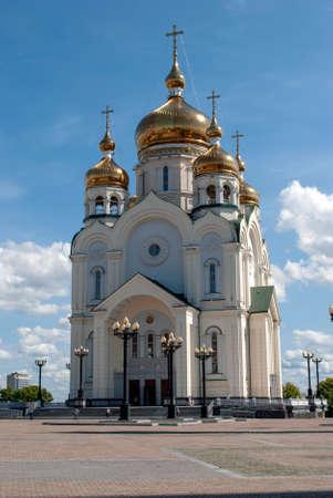 Spaso-Preobrazhensky Cathedral. Khabarovsk. Russia Stockfoto