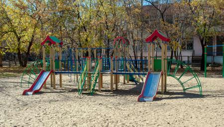 Childrens Playground. Summer