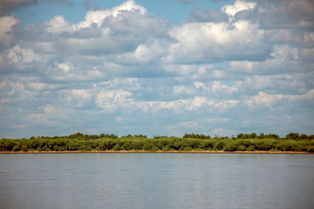 Russia. Sikachi-Alyan. View of the Amur river.