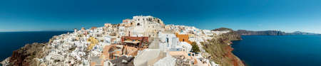 Oia Santorini panorama Standard-Bild