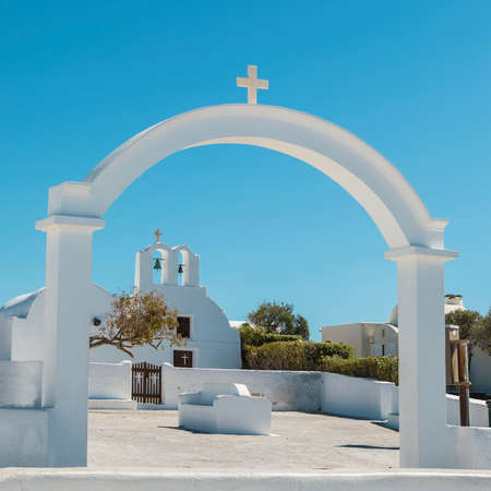 Gateway to Church on Santorini