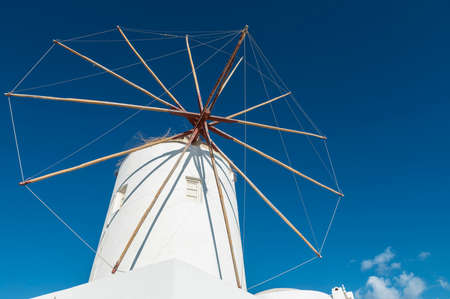 Iconic Windmill on Santorini
