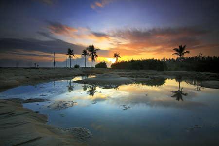 kelantan: Sunrise Pulau Panjang Kelantan Stock Photo
