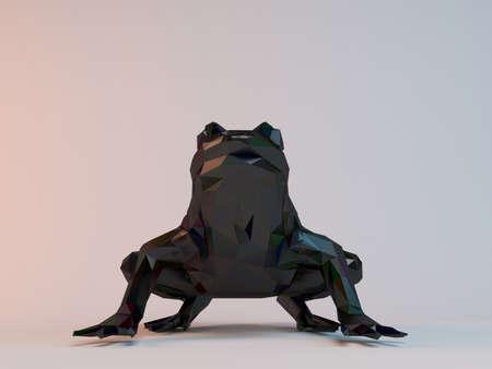 3D 블랙 낮은 폴리 (개구리) 스톡 콘텐츠