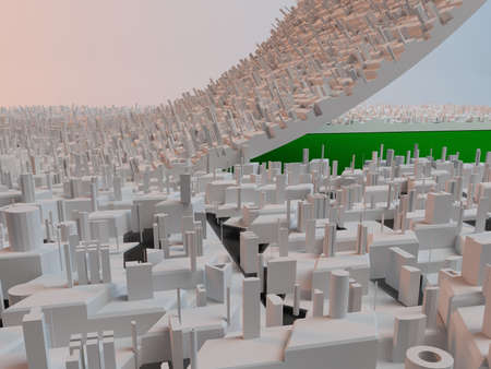 clearing: Urban development, make more green space concept Stock Photo