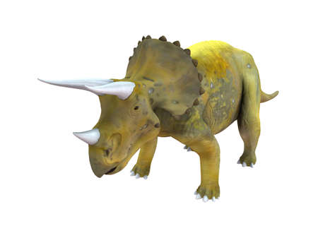3d render depicting a dinosaur, which lived during the Cretaceous period, isolated on white.