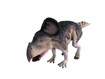 enormous: 3d render depicting a dinosaur, which lived during the Cretaceous period, isolated on white.
