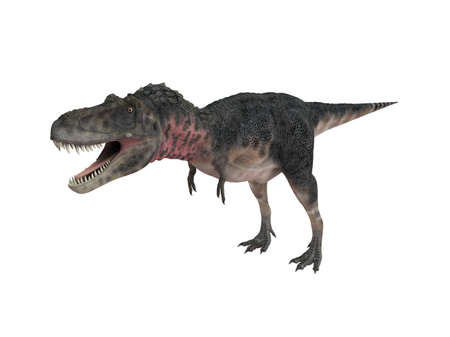 lived: 3d render depicting a dinosaur, which lived during the Cretaceous period, isolated on white.