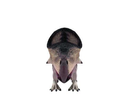 cretaceous: 3d render depicting a dinosaur, which lived during the Cretaceous period, isolated on white.
