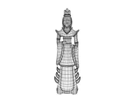 viewport: 3d statue wireframe Available in high-resolution and several sizes to fit the needs of your project.